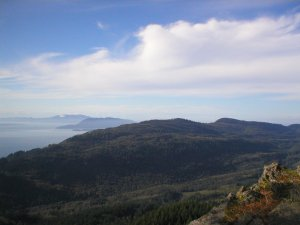 Chuckanut Ridge as seen from the Oyster Dome